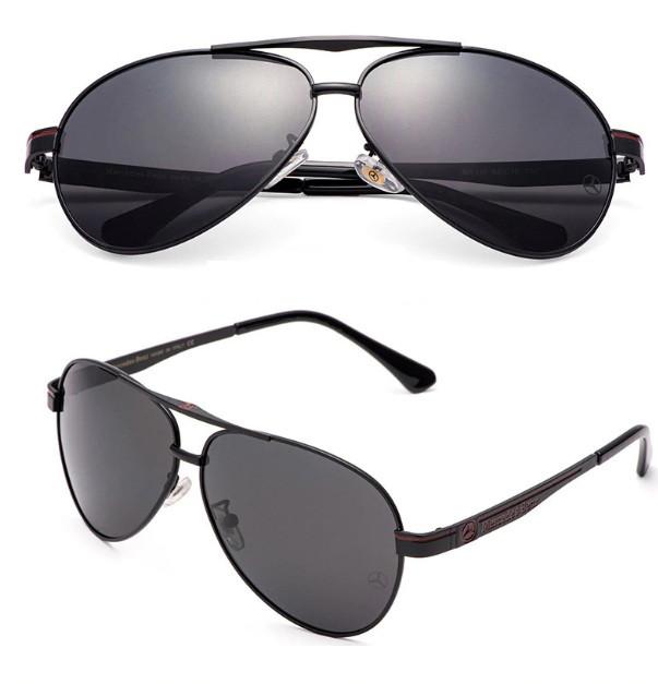 Мужсие Солнцезащитные очки с логотипом Mercedes-Benz Черные