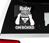 Автомобильная наклейка на стекло Baby on board (Ребенок на борту), фото 1