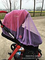 Москитная сетка для детской коляски фиолетового цвета
