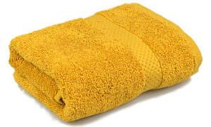 Полотенце махровое, бордюр, 40х70, цвет: горчичный
