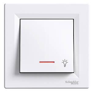 Кнопка с подсветкой 1-полюсн. Schneider Asfora
