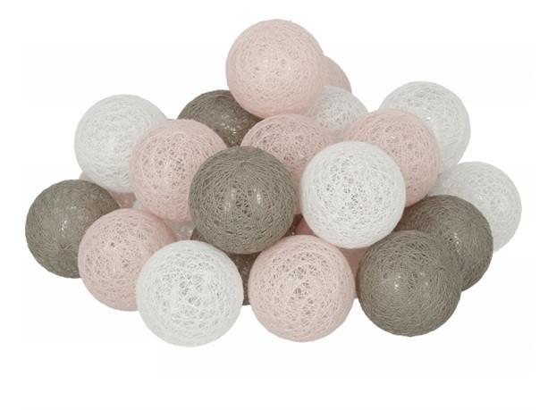 Гирлянда Тайские Шарики LTL Valedo Cotton Balls 30led, диам 6см, длина 540см на батарейках АА