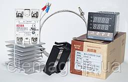 Терморегулятор REX-C100 + SSR-60 DA -H +термопара 0-400°C 1 метр + радиатор
