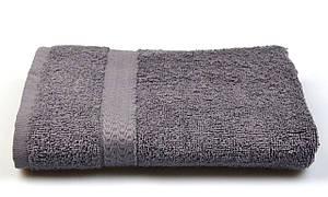 Полотенце махровое, бордюр, 40х70, цвет: графитовый