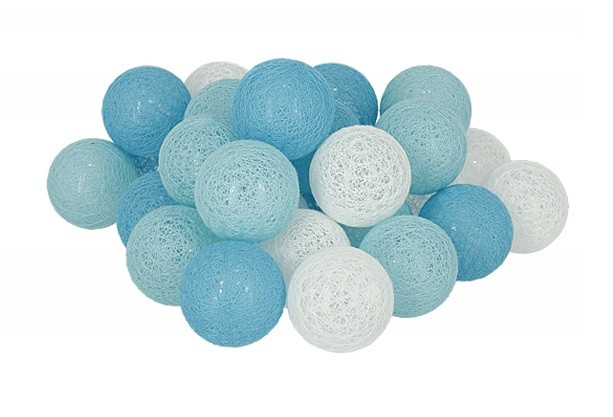 Гирлянда Тайские Шарики LTL Sky Cotton Balls 30led, диам 6см, длина 540см на батарейках АА