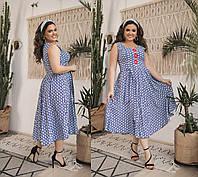 Женское летнее платье без рукавов большого размера.Размеры:48-58.+Цвета, фото 1