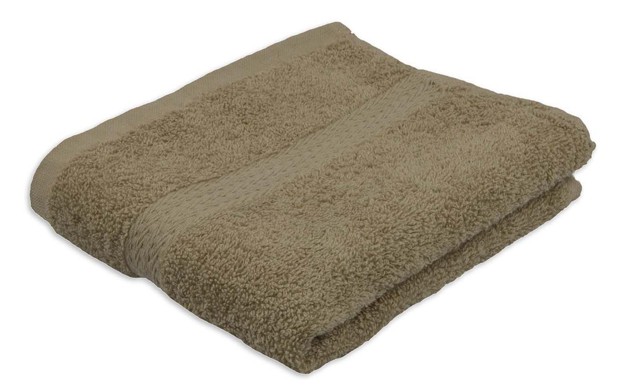 Полотенце махровое, бордюр, 40х70, цвет: кофейный