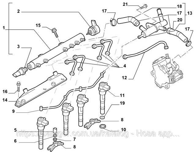 Сальник форсунки Fiat Doblo 1.3 Multijet (2005-2010) Opel