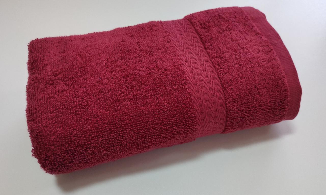 Полотенце махровое, бордюр, 40х70, цвет: красный