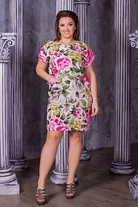 Шикарное летнее платье женское с карманами. Ткань супер - софт. Размеры 50,52,54,56. Цвета в ассортименте