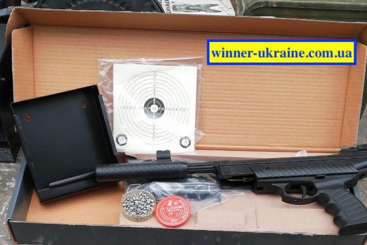 Пневматичний пістолет Hatsan mod 25 (в комплекті пулеулавливатель, мішені і банку куль)