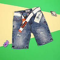 Детские джинсовые шорты для мальчика подростка размер 134,140,146,152