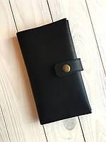 Гаманець жіночий з натуральної шкіри Goose™ G0027 чорний (ручна робота)