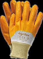 Перчатки рабочие на трикотажной основе с нитриловым покрытием. размер 9 Польские