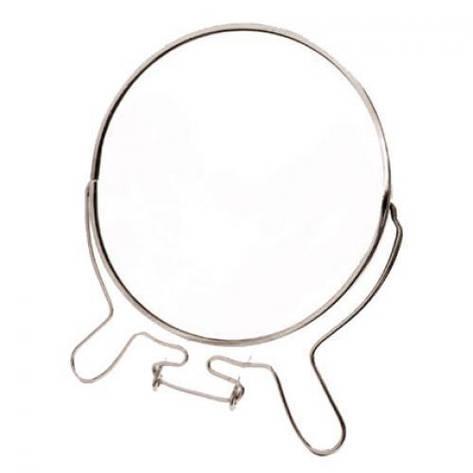 Зеркало двухстороннее круг металл S-8 20см, фото 2