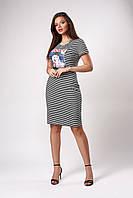 Стильное летнее полосатое платье. Код модели Л-46.1-55-17.