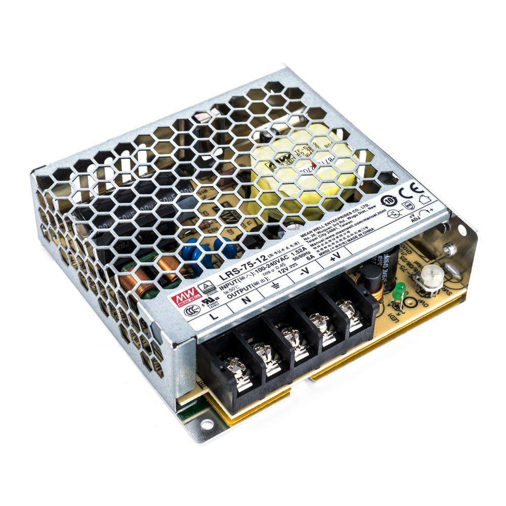 """Блок питания импульсный Mean Well 75W 12V (IP20, 6A) Series """"LRS"""""""