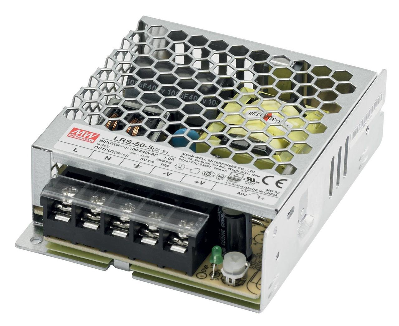 """Блок питания импульсный Mean Well 50W 5V (IP20, 10A) Series """"LRS"""""""