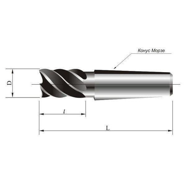 Фреза кінцева к/х ф 36 мм z=4 КМ4