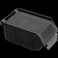 Облегченный органайзер-контейнер для инструментов 170х110х75 мм с крышкой ORGANIZE 014440 черный