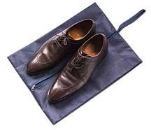 Объемная сумка-пыльник для обуви на молнии ORGANIZE HO-02 синий