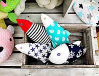 Детская подушка игрушка Рыбки (17*30см), фото 1