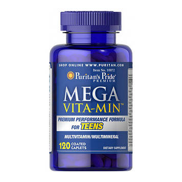 Mega Vita Min Multivitamins for Teens (120 caplets) Puritan's Pride
