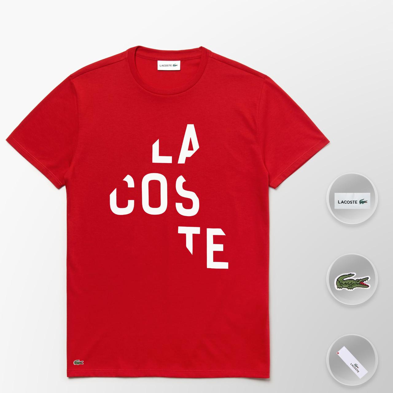 Мужская футболка Lacoste (ориг.бирка) красный
