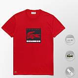 Мужская футболка Lacoste (ориг.бирка) красный, фото 8