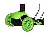 Самокат беговел scooter с родительской ручкой 5в1 зеленый, фото 3