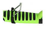 Самокат беговел scooter с родительской ручкой 5в1 зеленый, фото 4