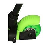 Самокат беговел scooter с родительской ручкой 5в1 зеленый, фото 8