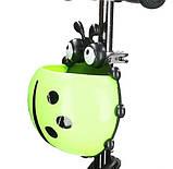 Самокат беговел scooter с родительской ручкой 5в1 зеленый, фото 9