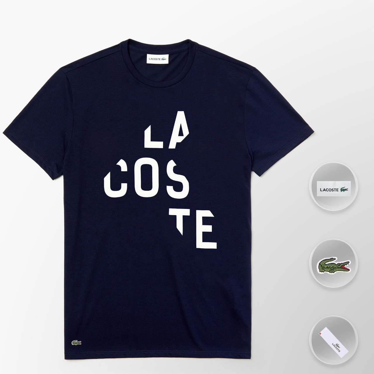 Мужская футболка Lacoste (ориг.бирка) темно-синий