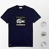 Мужская футболка Lacoste (ориг.бирка) темно-синий, фото 7