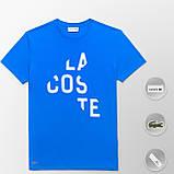 Мужская футболка Lacoste (ориг.бирка) темно-синий, фото 10