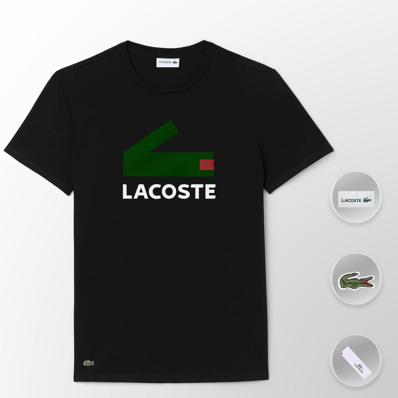 Мужская футболка Lacoste (ориг.бирка) черный