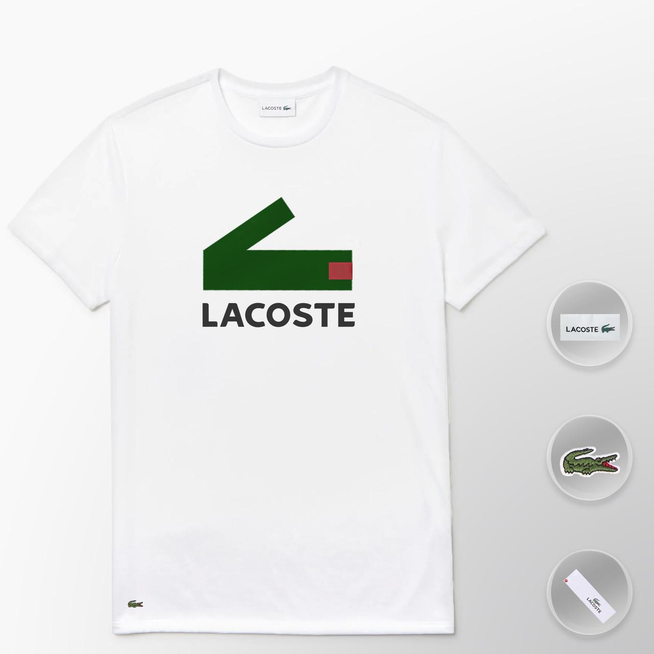 Мужская футболка Lacoste (ориг.бирка) белый