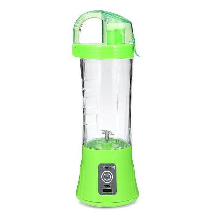 Портативный Usb блендер для смузи и коктейлей Juice Ql-602, green