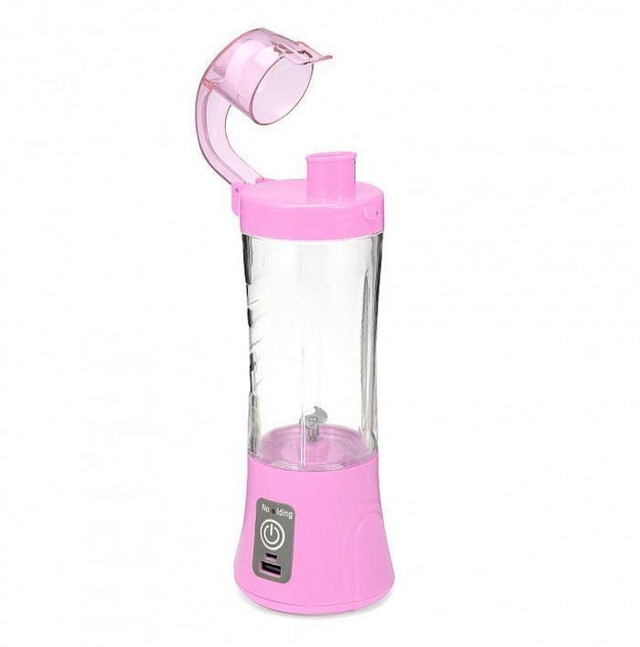 Портативный Usb блендер для смузи и коктейлей Juice Ql-602, pink