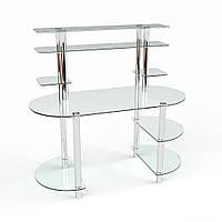 Компьютерный стол стеклянный Аванти