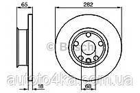 Диск тормозной передний Bosch 0 986 478 613