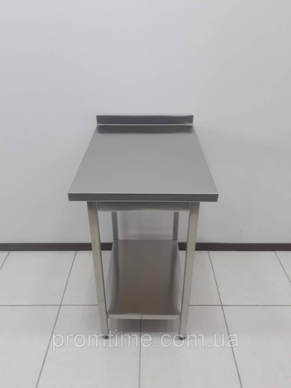 Стол производственный из нержавеющей стали 500х700х850