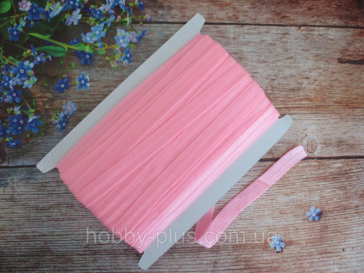 Бейка-резинка для повязок, розовый, 15 мм