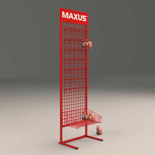 Торговые стойки с крючками для лампочек Максус