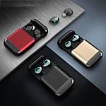 Бездротові навушники Bluetooth 5.0 гарнітура Wi-pods S7 Оригінал з вологозахистом із чохлом Power bank. Gold, фото 9