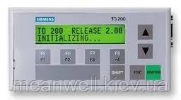 Панели оператора Siemens TD200. Текст. дисплей LCD, 2х20 символов, кабель 2,5 м