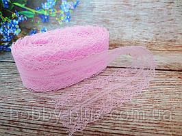 """Кружево """"Цветочное плетение"""", 4 см, цвет светло-розовый"""