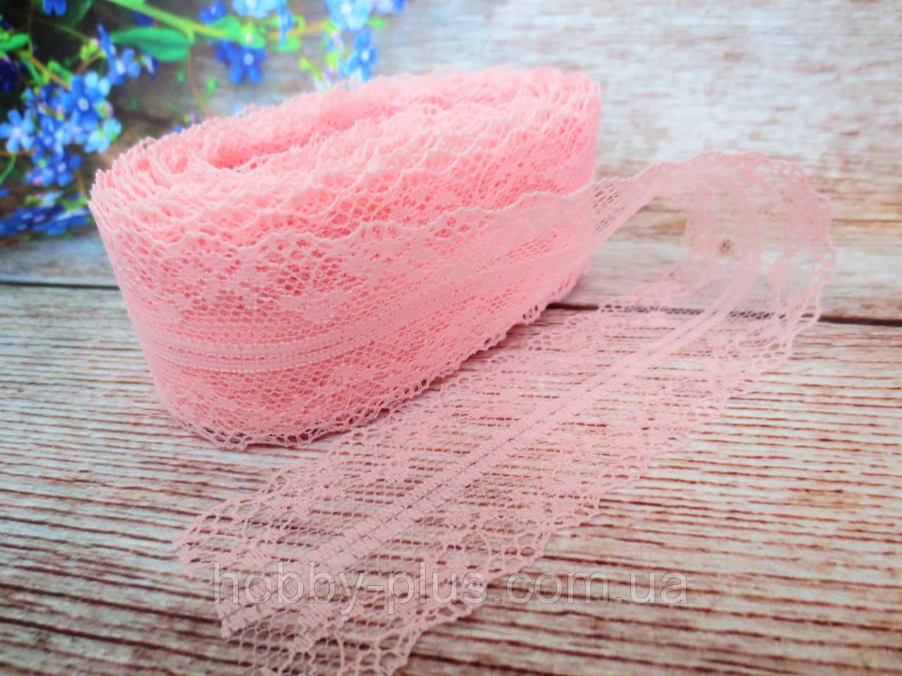 """Мереживо """"Квіткове плетіння"""", 4 см, колір білий"""