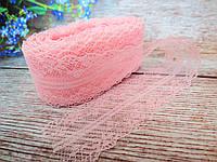 """Кружево """"Цветочное плетение"""", 4 см, цвет персиковый"""